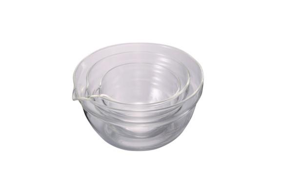 HARIO (ハリオ) 片口ボウル 耐熱ガラス 3個セット KB-1318