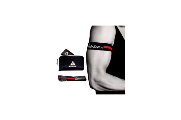 オクルージョントレーニングバンドbykottos for Arms – Blood Flow Restrictionブレース驚きの高速の筋肉、成長BFR Bands with強力クリップと最も厚いゴムストラップ、より安全ミリリットル、高速gains