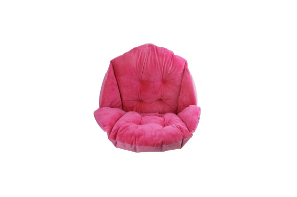 座椅子 低反発 クッション 椅子 フロアチェア 軽量 コンパクト ソファ チェア オフィス用クッション 背筋・骨盤矯正クッション 猫背 腰痛 背筋痛 骨盤痛 椅子 オフィス用 バラ色