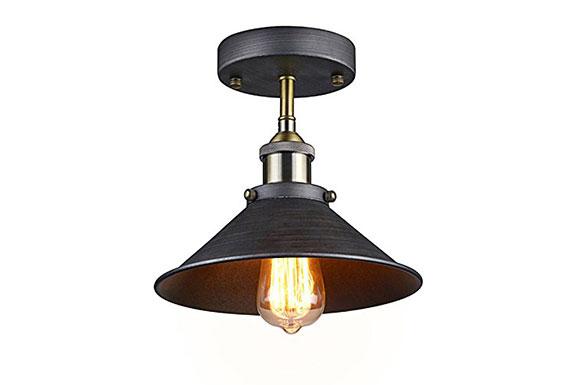 HomeDeco Hardware シーリングライト 照明 アイアンシェード キッチンライト 天井照明 照明おしゃれ 寝室照明 照明 ブラケットライト 段階照明 照明レトロ 照明北欧 工業ライト 玄関照明 廊下照明 リビングライト 洋室照明 カフェ風ライト