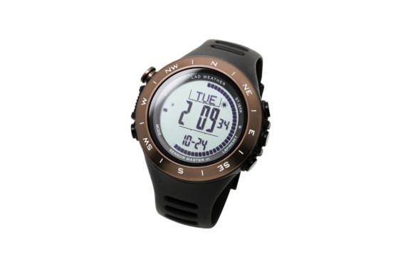 [ラドウェザー]アウトドア腕時計 登山/トレッキング グッズ 高度計/気圧計/気温計/天気予測 デジタルコンパス スイス製センサー搭載