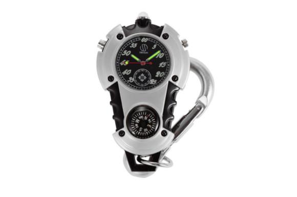 SIBOSUN ミニクリップウォッチ カラビナウォッチ LEDライト付き マイクロライト 時計 釣り 登山