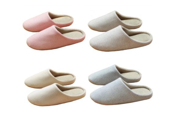 Minao スリッパ おしゃれ 4足セット 洗える 来客用 滑り止め 静音 室内履き クッション性 履き心地良い 軽量 シンプル かわいい 家族 カップル ルームシューズ 洗濯可