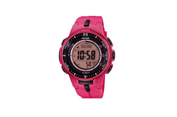 【安心2年保証】CASIO カシオ PROTREK プロトレック 電波 ソーラー 登山用 腕時計 トレッキング デジタル ウォッチ 方位計 コンパス 高度計 温度計 PRW-3000-4B ピンク 電波時計 薄型 小型 軽量 [並行輸入品]