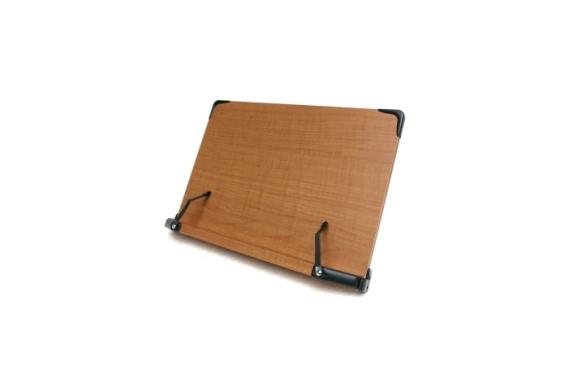 見やすい角度に14段階調節 木製ブックスタンド 大きめサイズ(40×26.5cm) 折りたたみ式 多用途 書見台 筆記台 (メーカー直輸入品)