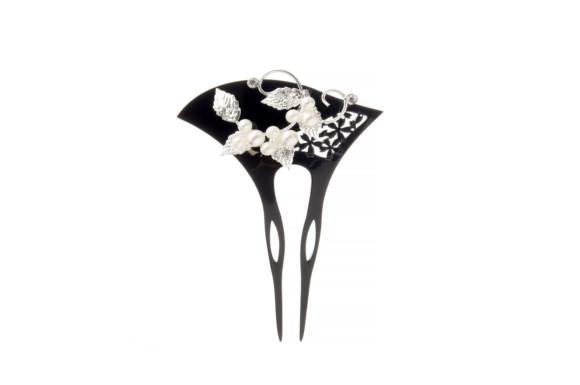 バチ型簪(かんざし) [結婚式/着物/和装]