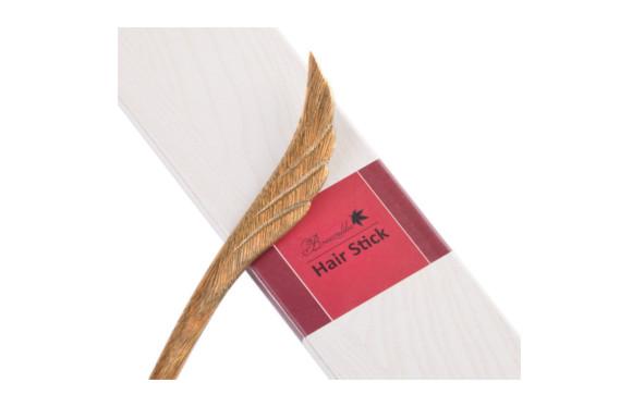 ブリーズライクBreezelike 手作り簪 緑檀 翼を広げる 天然木かんざし サンダルウッド