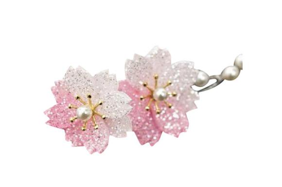 babester(ベイブスター) 簪 一本 桜 和装小物 ラメ レディース