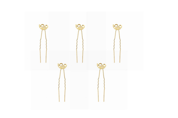 Yean 簪 かんざし 金属 セット U型 ティアラ U字 ヘア アクセサリー 一本 一本差し 二本 二本差し 二連 ジュエリー 和装 洋装 留袖 二股 髪飾り かみかざり 飾り付け シンプル