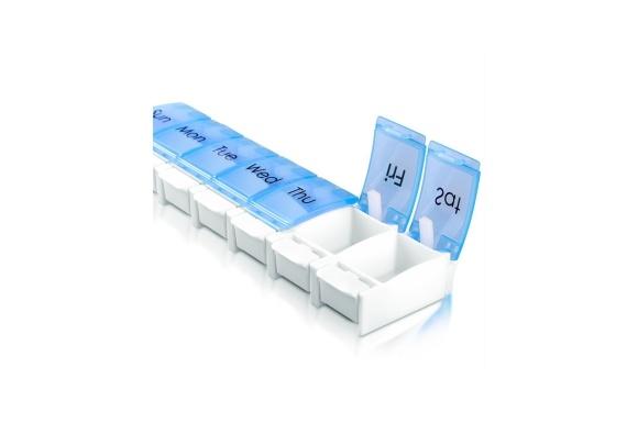 KUMFI 薬ケース ピルケース 習慣薬箱 薬入れ 1週間分 コンパクト 取り外し可能 くすり整理ケース (7DAYS)