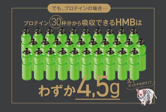 プロテイン30杯分から九州できるHMBの量