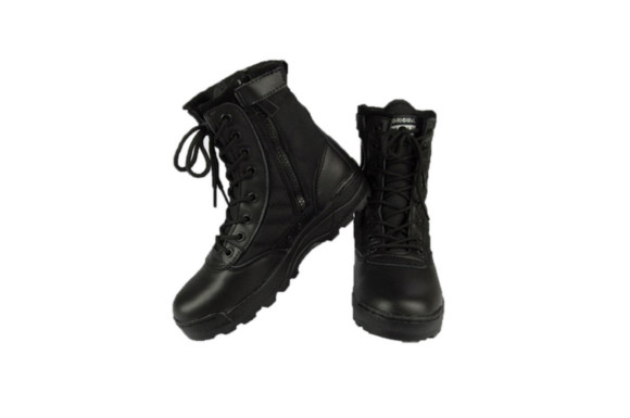 alohapi SWAT タクティカル ブーツ サイド ジッパー 式 ミリタリー ブーツ ジャングル ブーツ