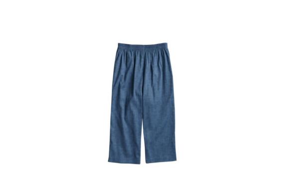 セルヴァン 高島ちぢみ ポケット付ゆったりステテコ 男性用 グレイッシュブルー L