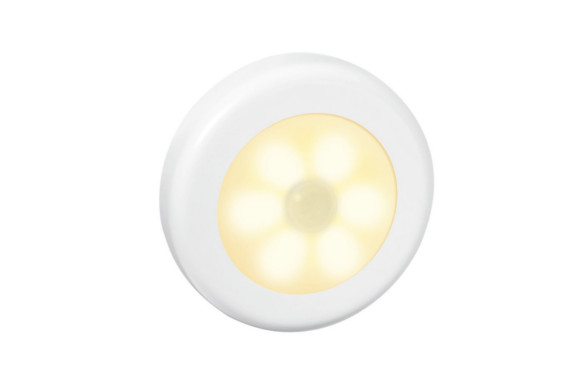 Te Fiti 人感センサーライト 自動点灯 消灯 夜間 間接照明 ナイトライト 電池式 省エネ 配線不要 室内照明 磁石&粘着テープ付き小型 夜間 (暖色)