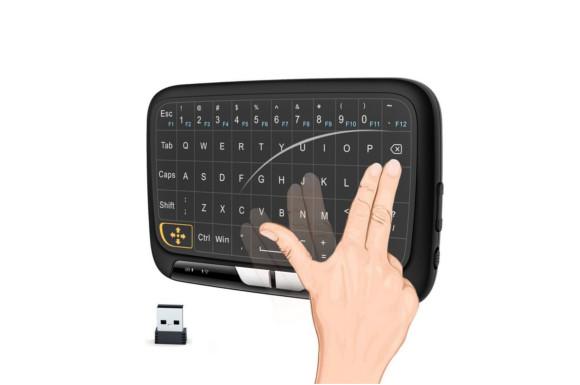 改良版 2.4Ghz mini wireless キーボード ワイヤレス式 ミニキーボード マルチタッチ 感圧タッチトラックパッド マウス一体型 USBレシーバー付き PC、PAD、Android TV 、HTPC、IPTV対応 PDF日本語説明書付き