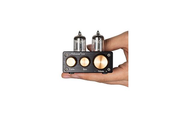 【新登場!】 Nobsound NS-10P Mini 真空管 プリアンプ Hi-Fi AUX ライン プリアンプト レブル ベース メール便発送不可