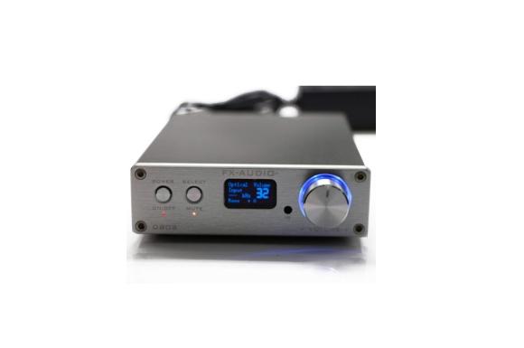 FX-Audio D802 デジタルアンプ USB光ファイバー同軸入力 192KHz 2x80W (シルバー)
